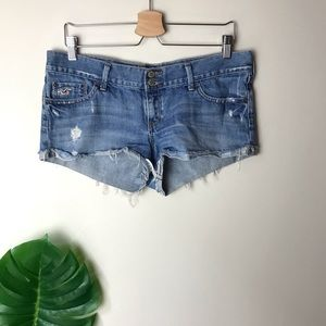 Hollister | Distressed Denim Jean Shorts Size 9